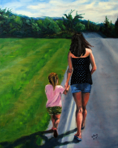 The Walk by William Palm - Fine Art
