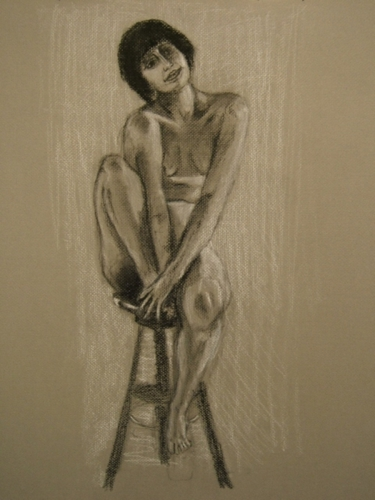 """Nude on a Stool"""
