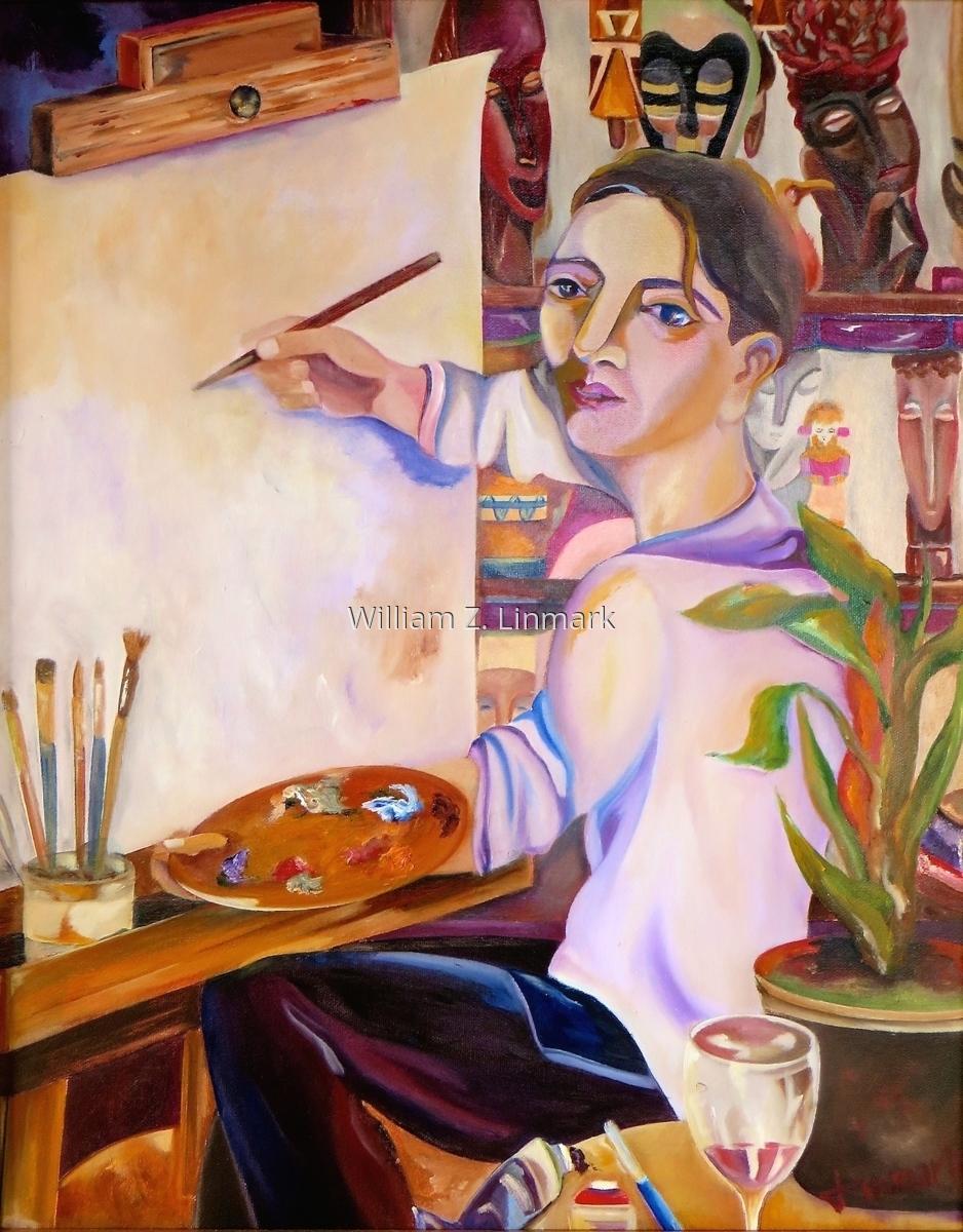 L'artist dans son atelier (large view)