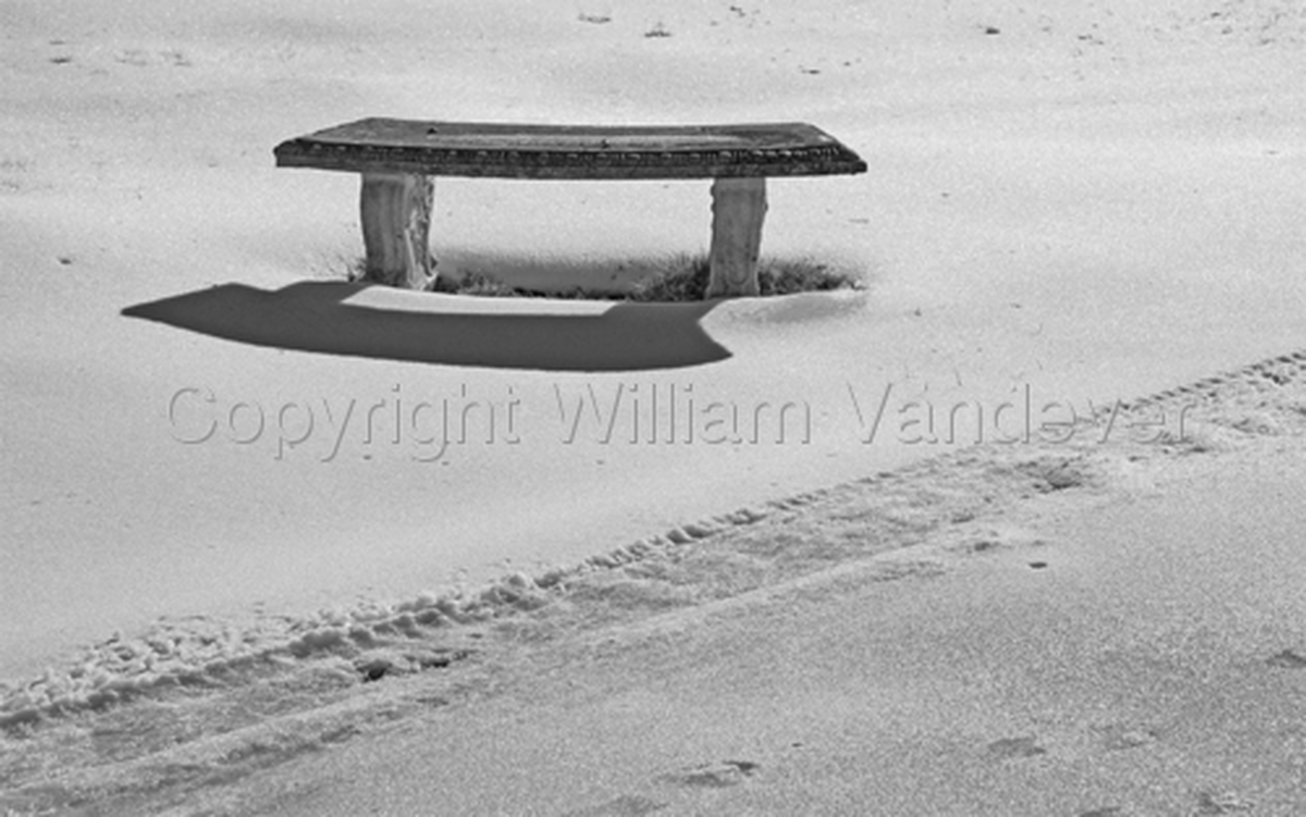 Stone Bench & Snow (large view)