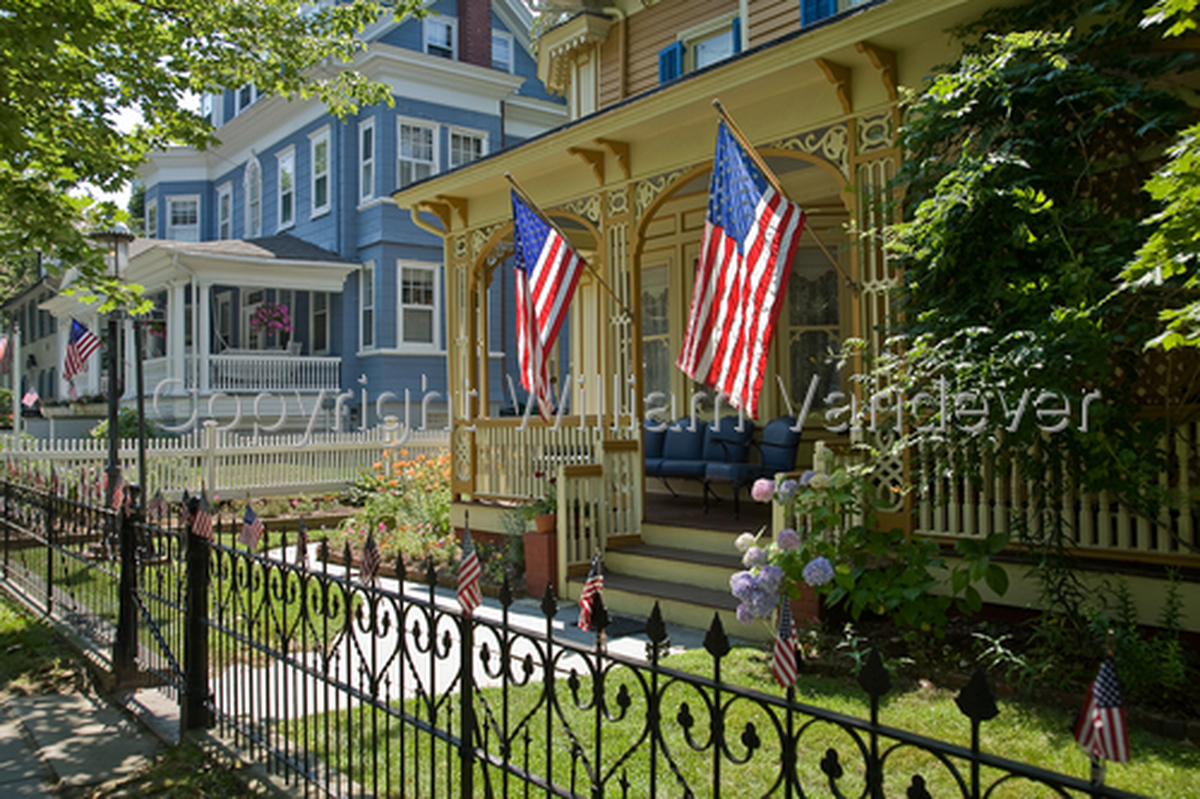 Porch & Flags-Cape May (large view)