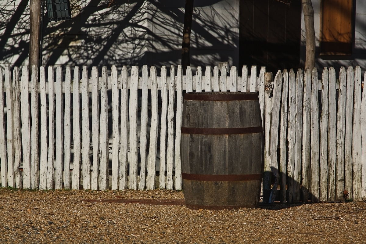 Fence and Barrel, Williamsburg (large view)