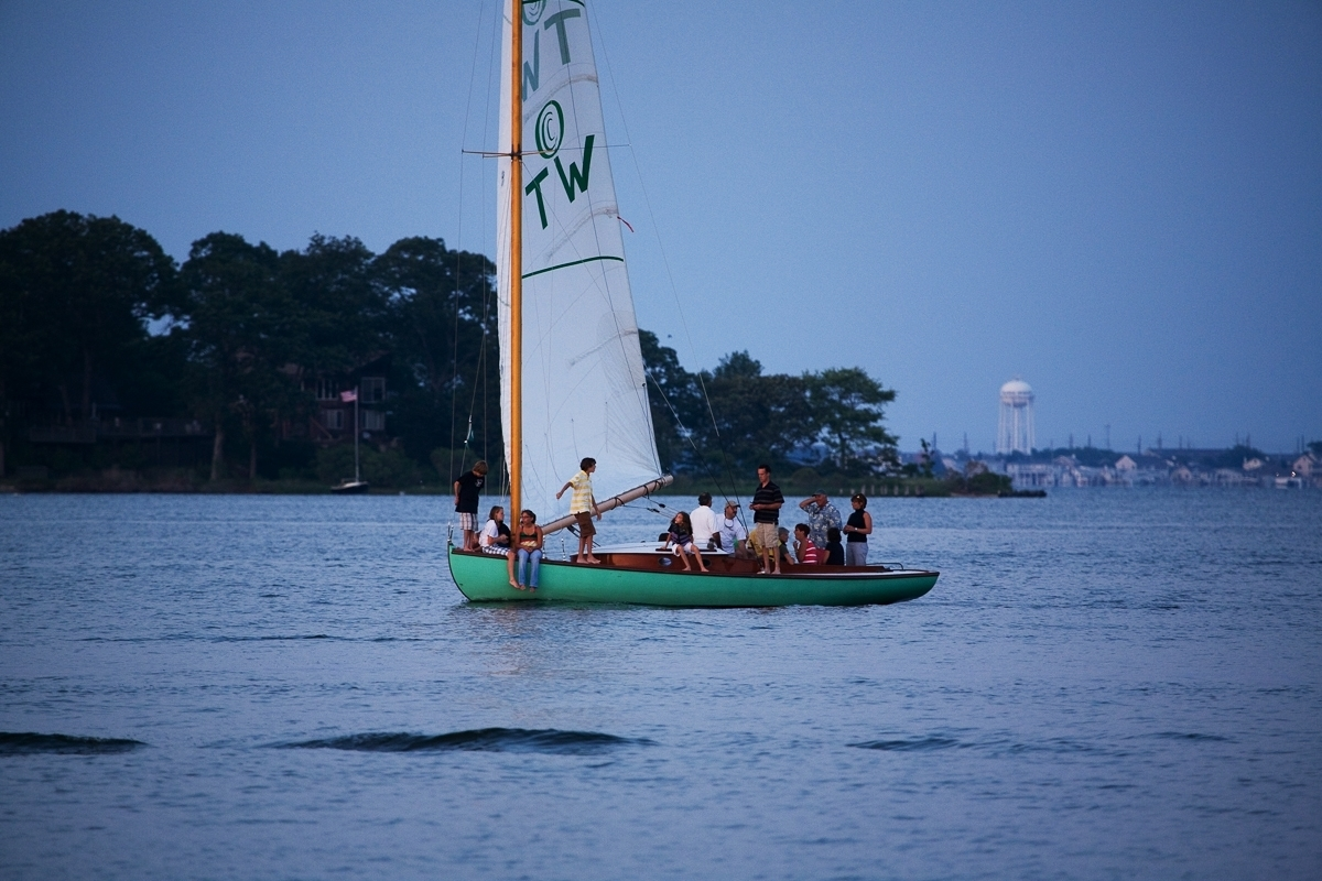 Catboat Under Sail (large view)