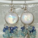 Danika, Wire Wrapped Dichroic Glass Earrings (thumbnail)