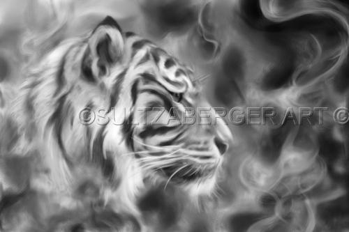 Painting #24 Smokey Tiger