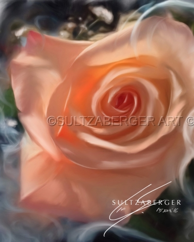 Painting #28 Peach Rose