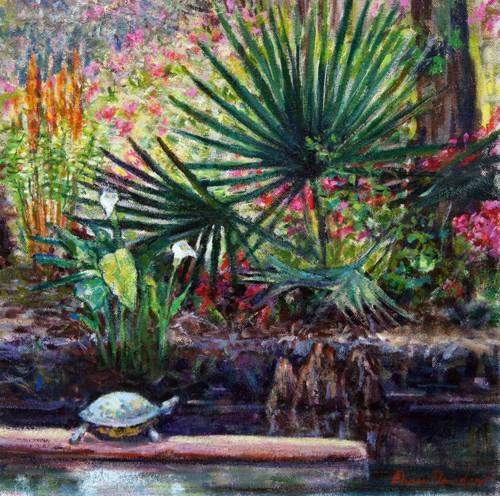 Turtle on a Log (Magnolia Plantation) by NANCY DAVIDSON