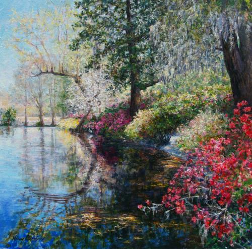 Sweet Spring at Magnolia Plantation by NANCY DAVIDSON