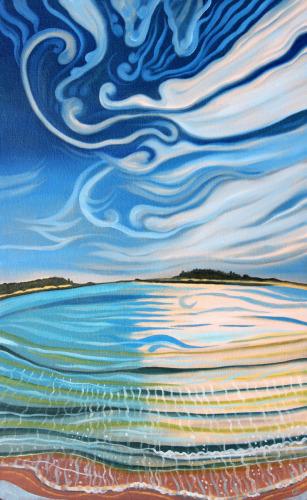 Goose Rocks Beach by Peggy Clark Lumpkins