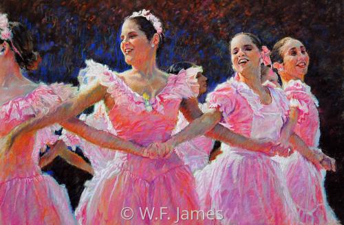 SPANISH DANCERS by W.F. James Studio