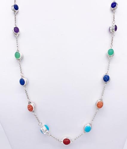 "30"" Multi-Color Jellybean Necklace"