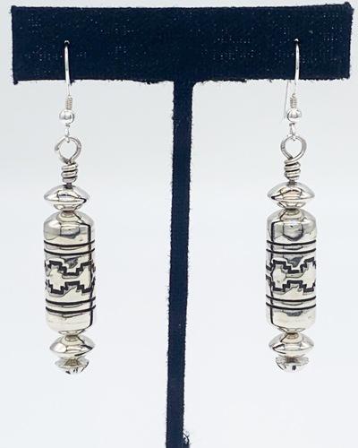 Barrel Bead Earrings