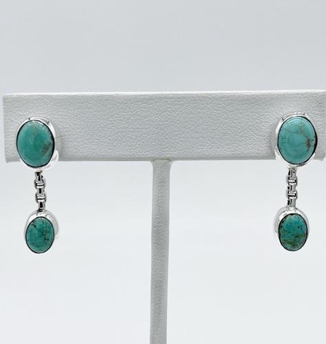 Double Stone Carico Jellybean Post Earrings