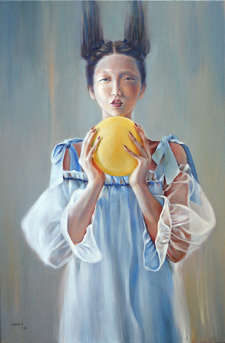 Holding Up by Dallas based artist: Wenli Liu
