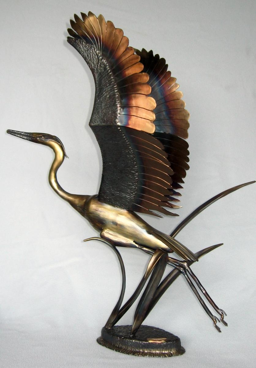Heron Take-Off (large view)