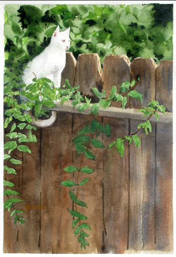 White Cat 2 by Richard Eaves Woods Arts
