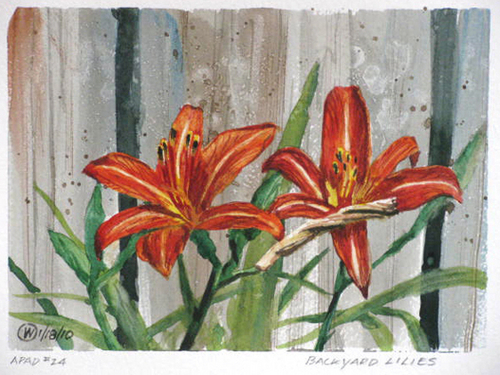 Backyard Lilies by Richard Eaves Woods Arts
