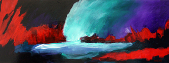 contemporary, abstract, expressionist, acrylic, colorful, fine, art, landscape, wendell, myers, sold -  Painting