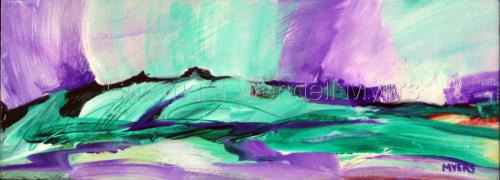 Green Hillside Purple Sky by Wendell Myers