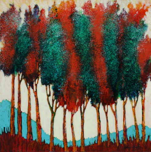 October Tree Line #1 by Wendell Myers