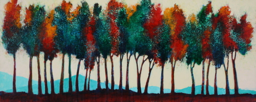 October Tree Line #2 by Wendell Myers