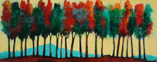 October Tree Line #3 by Wendell Myers