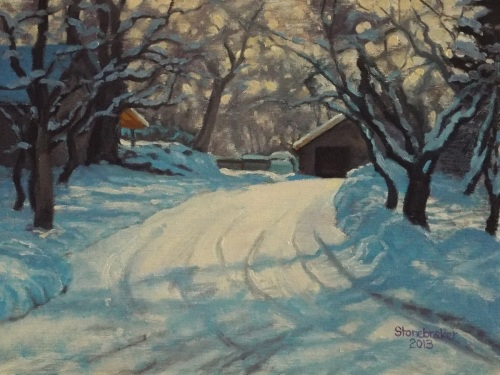 Snowy Lane by William Stonebraker