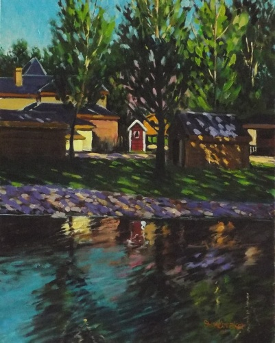 Duck Pond and Violet Shadows