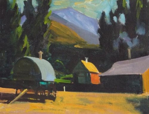 "Oil Sketch ""This is The Place"" Park by William Stonebraker"