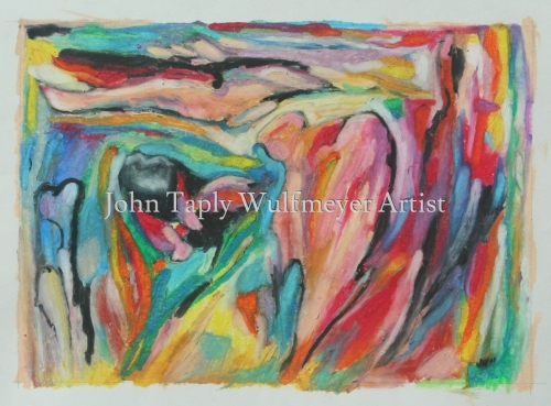 Abstract Landscape with Figure