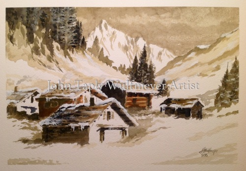 """Winter above Zermatt"""