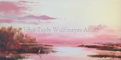 """Marshlands at Sunset"""
