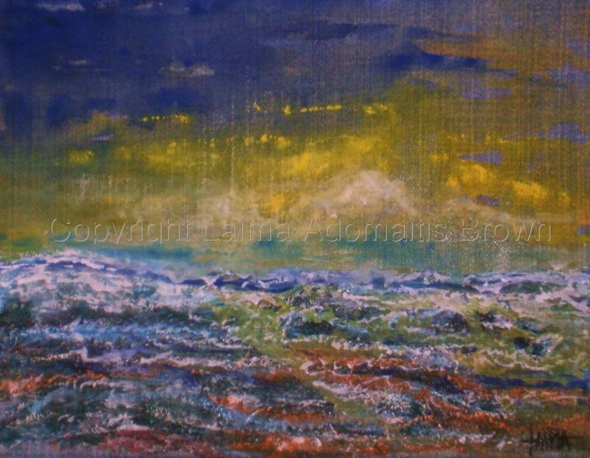 Supernal Sea (denim canvas) (large view)