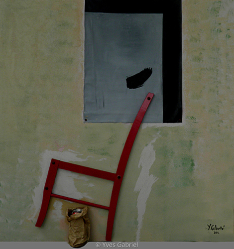 Study of Overtown: Red Chair (large view)