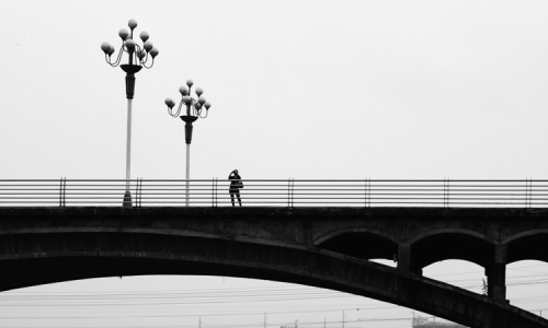 Woman/Bridge