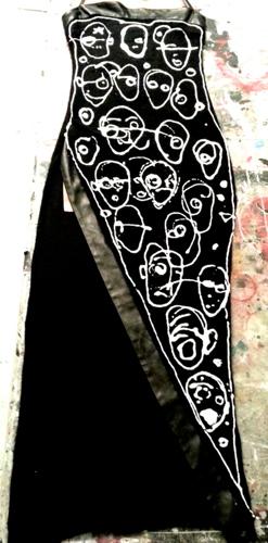 black dress: front