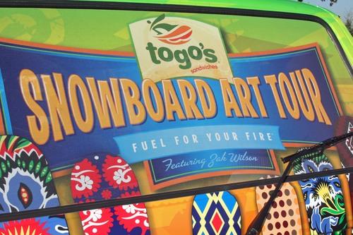 Togo's Snowboard Art Tour by Zak Wilson