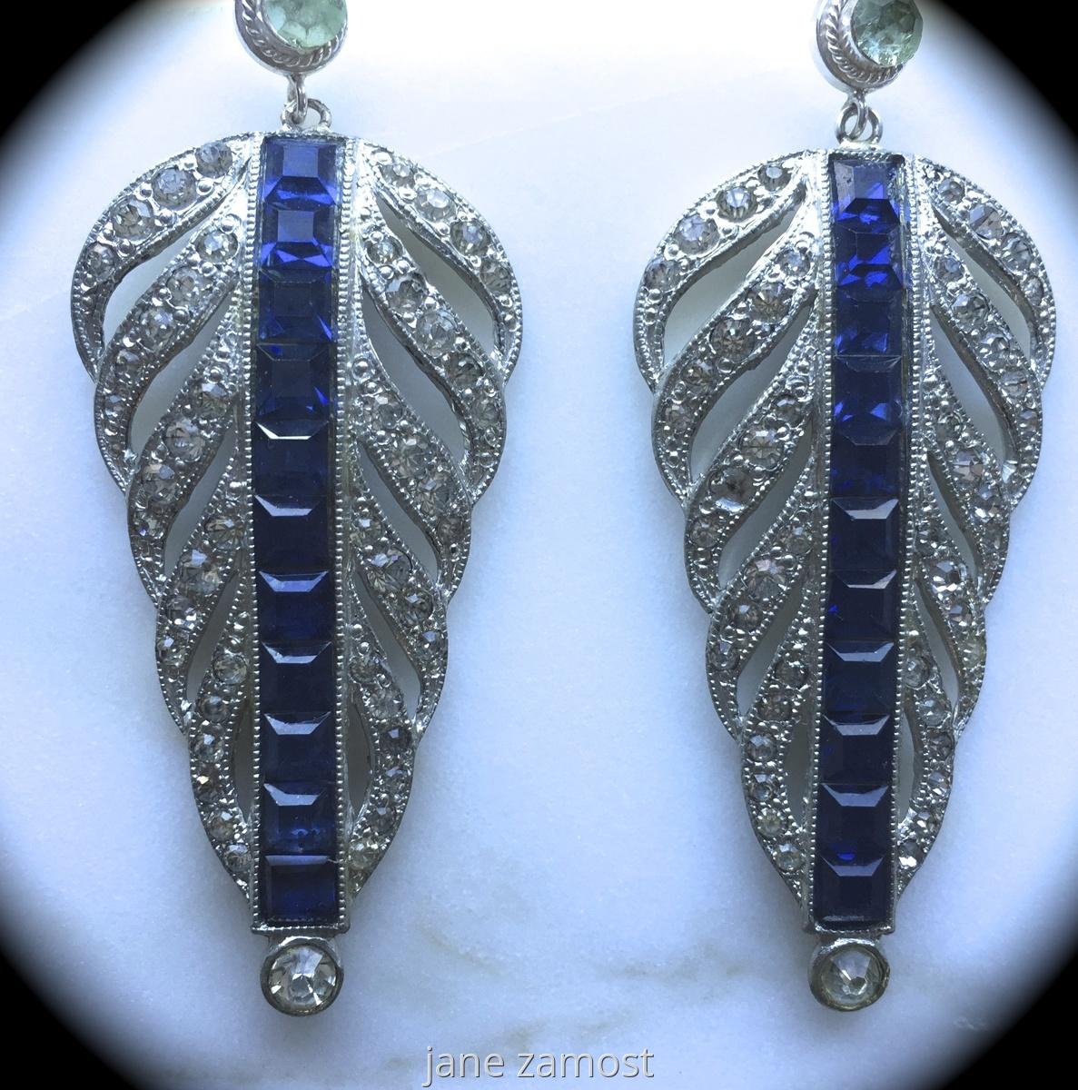 Vintage and Swarovski Earrings. VIN018 (large view)