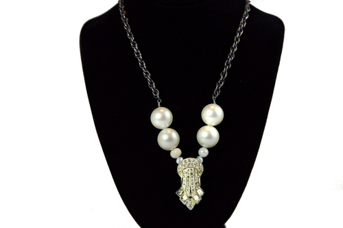 Vintage, Pearl and Glass Pearl Necklace